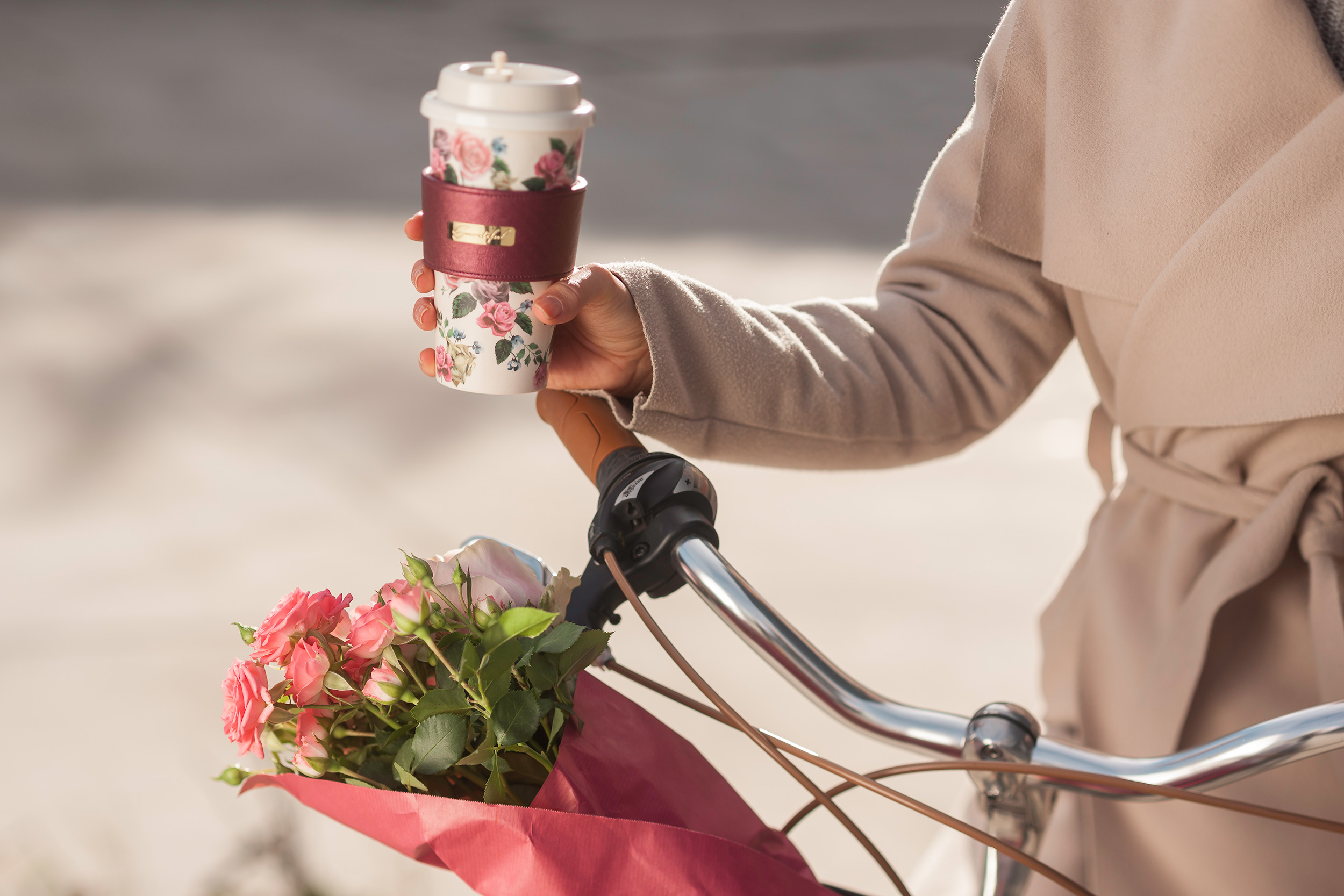 smartiful coffee cup smart rose bicycle